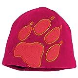 Jack Wolfskin Mädchen Mütze Kids Front Paw Hat, Beetroot Red, 49-55 cm, 19424-2121495