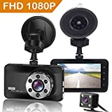ORSKEY Dash Cam Front and Rear 1080P Full HD Dual Dash Camera In