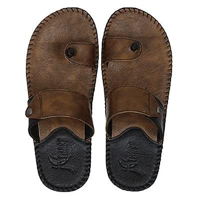 Kraasa Men's White Synthetic Slide Slippers