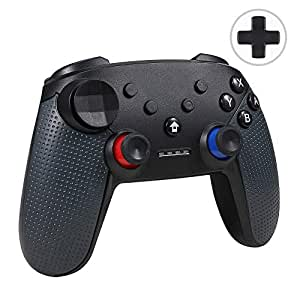 Jevogh Switch Pro Controller Wireless, GR92 Bluetooth Pro Controller For  Nintendo Switch & PC, Wireless Gamepad Remote Joypad with DualShock and  Gyro