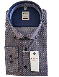 39d0fcc54843 Haupt Herren Hemd modern fit Button Down 1210 9053-1 kariert blau weiß rot