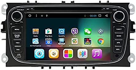 wekuo Android 7.1 Quad Core 2 Din 17,8 cm Auto-DVD-Player für Ford/Focus 2/Mondeo/S-Max/Connect 2008 2009 2010 2011 Head Unit KFZ GPS-Radio