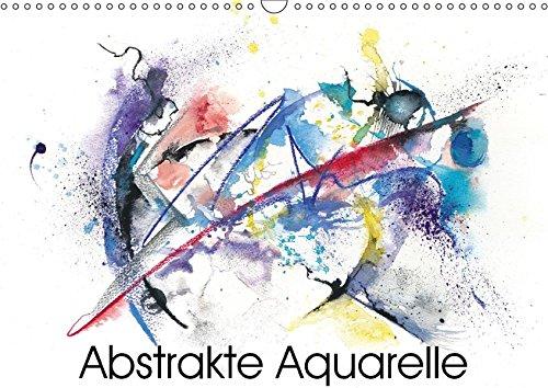 Abstrakte Aquarelle (Wandkalender 2018 DIN A3 quer): Moderne Aquarelle mit Kreide und Tusche...