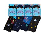 IMTD 12 Pairs Boys Back to School Pattern Design Socks Kids Space Galaxy Solar System Design Socks