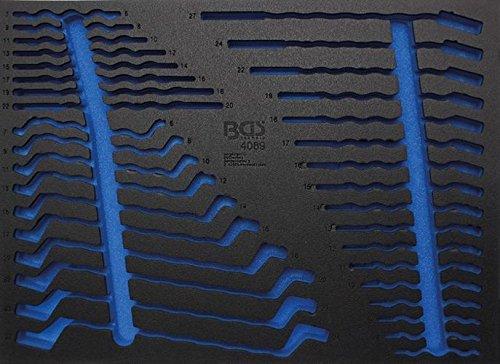 BGS Leere Weichschaumeinlage für Maul-Ringschlüssel-Satz 4089-1