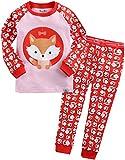 Vaenait Baby Kinder Maedchen Nachtwaesche Schlafanzug-Top Bottom 2 Stueck Set Berry Chichi S