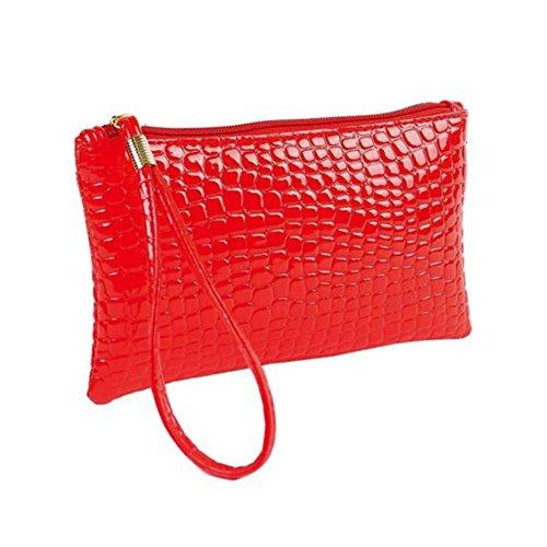 TIFIY Frauen Reine Farbe Mode Krokodilleder Clutch Handtasche Tasche Geldbörse Tasche Kleine...
