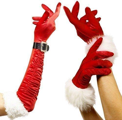 Damen Sexy Frau Weihnachtsmann Weihnachten Rot Pelzrand Lang -