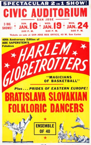 CLASSIC POSTERS The Harlem Globetrotters Reproduktion Foto Poster 40x30 cm (Foto Harlem)