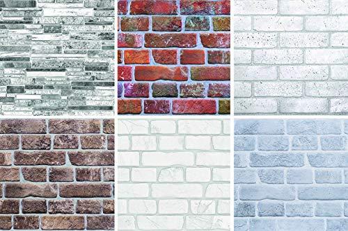 1 Platte | Dekor Paneele | Ziegeloptik | Wand | PVC | stabil | 95,1x49,5 cm | 56014