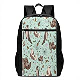 TRFashion Sac à Dos Sea Otters 17 inch Outdoor Canvas Travel Hiking Laptop Backpack...