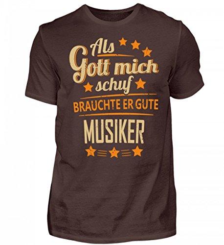 Shirtee Hochwertiges Herren Musiker Band - lusitges Geschenk Braun