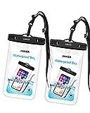 [2 Stück]Anker Wasserdichte Hülle, IPX8 Zertifizierte Wasserdichte Dry Bag, Tasche für iPhone 7/...