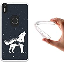 Funda bq Aquaris X5 Plus, WoowCase [ bq Aquaris X5 Plus ] Funda Silicona Gel Flexible Lobo Frase - We Are All Made Of Stars, Carcasa Case TPU Silicona - Transparente