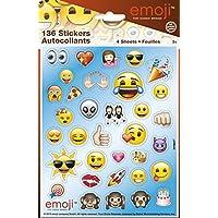 Hojas de pegatinas, diseño de emojis, 4 unidades