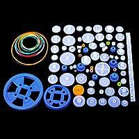 Kit de Engranajes Plástico 80pcs, Quimat Conjunto de Engranajes para Bricolaje Jueguete Caja de Cambios