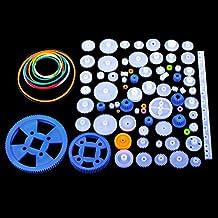 Kit de Engranajes Plástico 80pcs, Quimat Conjunto de Engranajes para Bricolaje Jueguete Caja de Cambios QY16