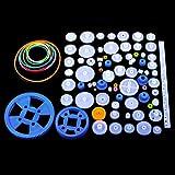 Quimat Kunststoff Getriebe Zahnrad Set Plastic Gears Toy für DIY Modelle/Roboter / Getriebe (QY16)