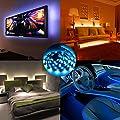 AMIR LED Streifen, 30 LED 1M Farbe Wechselnden LED Streifen Licht mit 24 Geschmacks Fernbedienung, IP65 Wasserfest LED Lichtband f¨¹r TV Bildschirm, Desktop, PC, Halloween, Camping usw von AMIR bei Du und dein Garten