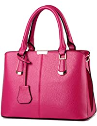 Alidear New Brand And Fashion Women Top Handle Satchel Handbags Tote Shoulder Bag For Purse Rose Pink