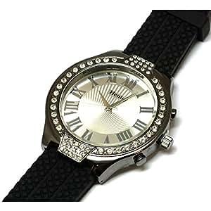 Henley Glamour–HBS002.1–Montre de Poignet pour homme, bracelet en silicone