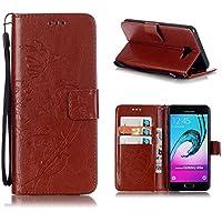 KATUMO Samsung A5 2016 Coque, Housse de Protection Flip Cover Wallet Case pour Samsung Galaxy A5 2016 SM-A510F Etui PU Cuir Portefeuille Coque Rabat Pochette-#0Marron