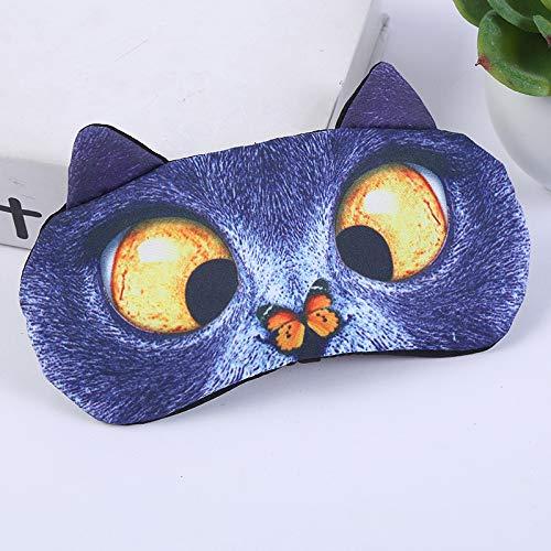 Wendy Hernamdez asc Cute 3D Cat Pattern Lunch Break Shading Eye Mask Travel Sleeping Eye Protection(Cat D)