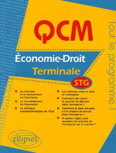 QCM Economie-Droit Tle STG