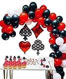 Casino Party Decoration Supplies Set: Casino Balloons, Latex Balloon with Casino Confetti for Casino Theme Party,Las Vegas Themed Parties,Casino Night ,Poker Events,Casino Birthday Décor ...