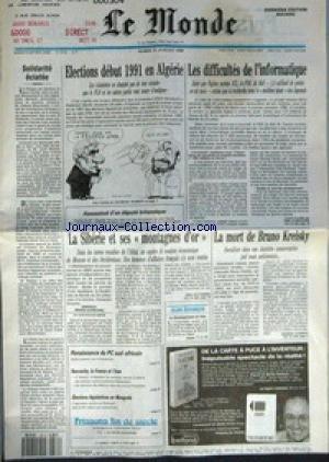 MONDE (LE) [No 14154] du 31/07/1990 - SOLIDARITE E...