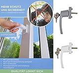 1a-Handelsagentur Fenstergriff abschließbar Sicherheitsfenstergriff Fensterbeschlag Metallgehäuse, Farbe:Silber