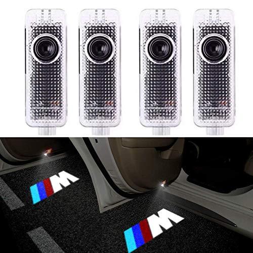 4 Stück Autotür Einstiegsleuchte Projektion Türeinstiegbeleuchtung mit Logo für E90 E91 E92 E93 M3 E60 E61 F10 F07 M5
