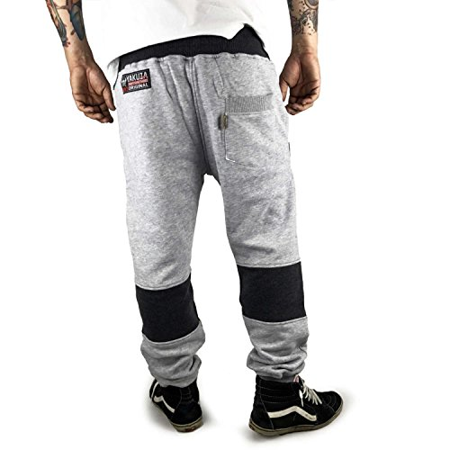 Yakuza Uomo Pantaloni / Pantalone ginnico Warrior Marne grigia chiara