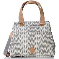 f16e2269d3241 PacaPod Richmond Taube Herringbone Designer Baby Wickeltasche – Luxus Grau  Muster 3 in 1 Organisieren System