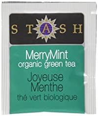 Stash Tea Organic Merry Mint Green Tea, 100 Count Box of Tea Bags in Foil