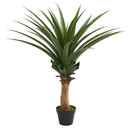 Nearly Natural 3.5' Agave Artificial Plant künstliche Pflanze, Plastik, grün