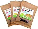 "**NEW BIGGER 50g BAG SIZE**LLS Primal Beef Jerky | 100% Grass Fed British Beef Snack | High in Protein | No MSG No Gluten No Added Sugar | Paleo Approved | 3 x 50g Packs | Three Exciting Flavours - Original, Peri Peri and Chilli | Love Life Supplements - ""Live Healthy. Love Life."""