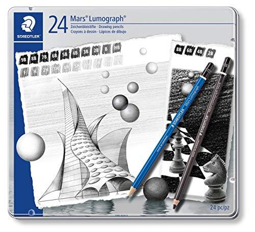Staedtler Mars Lumograph 100 G24 S. Pack 24 lápices