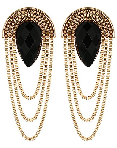 Crunchy Fashion Black Metal Dangle & Drop Earring For Women