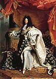 Hyacinthe Francois Rigaud: Louis XIV (14) de Francia en Royal disfraz. Fine Art Print/Póster. Tamaño A4(29,7cm x 21cm)