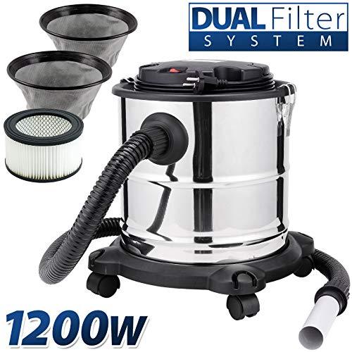 20L–Aspiradora de cenizas Chimenea Aspiradora 1200W Dual Sistema de filtro con...