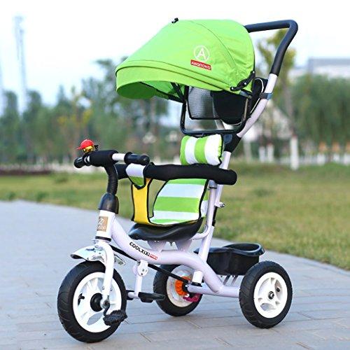 Kinderfahrräder, Dreiräder, Klappräder 1-6 Jahre alt, Kinderwagen, abnehmbare Stoßstangen, Markisen ( Size : Titanium empty wheel ) Doppel-kinderwagen Abnehmbare