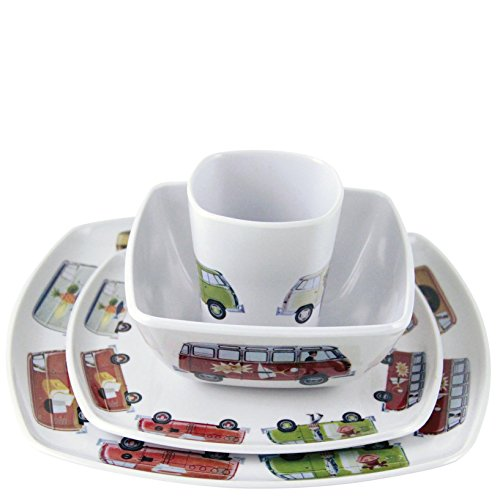 VW Collection by BRISA VW Bulli Melamin Geschirr Set 4tlg.
