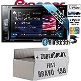 FIAT Bravo 198 - Pioneer AVH-X490DAB - DAB+ | DVD | USB| 2DIN | Bluetooth | Autoradio - Einbauset