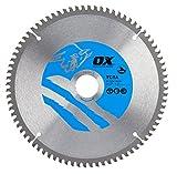 OX ox-tcta-216308080Zähne TCG Aluminium/Kunststoff/Laminat Schneiden Kreissägeblatt, 0V, silber/blau, 216/30mm