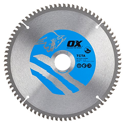OX Alu/Plastic/Laminate Cutting Circular Saw Blade 216/30mm, 80 Teeth TCG
