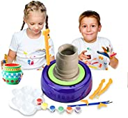 Bee-UAE Educational DIY Toys Electric Pottery Machine, Kids Adults Beginners Pottery Wheel Kit with Clay Paint