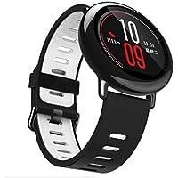 zolimx 22Mm Reemplazo Silicona Deportes Correa Banda para Xiaomi Huami Amazfit Smart Watch (Gris)