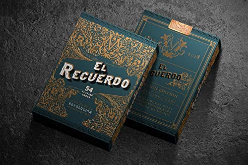 Noir Arts EL Recuerdo Revolucion Kartenspiel Spielkarten Playing Cards - Green Gold Foiling Embossed Rare Limited Luxury Mexican Poker Deck