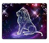 Yanteng 17P04874 Tapis de Souris Le Lion est des Animaux La Constellation du Lion est Un Signe des Leaders Un Esprit Fort Un Corps Fort Une volonté Forte Un Tapis de Souris personnalisé